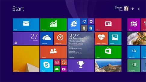 """Windows 8.1 in einer speziellen Version mit voreingestelltem """"Bing"""" als Suchmaschine lässt Notebooks billiger werden. (Bildrechte: Microsoft)"""
